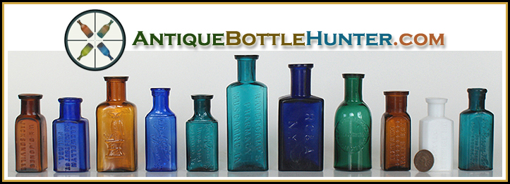 AntiqueBottleHunter.com ...Bottles Stoneware and Glass ...Header