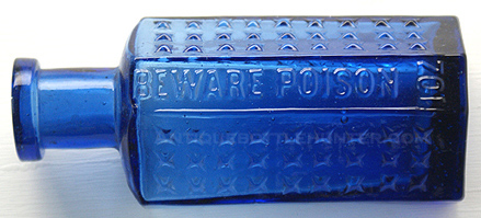 KI-? 1 OZ. BEWARE POISON. --- AntiqueBottleHunter.com
