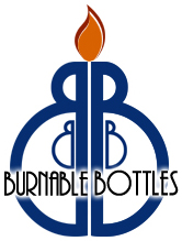 BURNABLE BOTTLES Logo - All rights reserved --- AntiqueBottleHunter.com