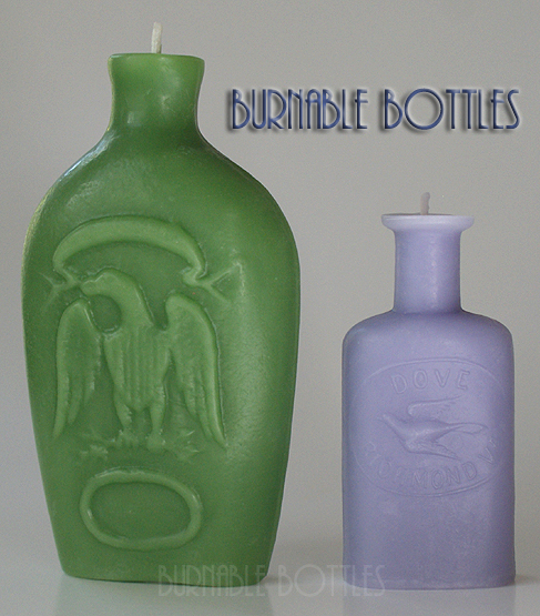ITEM# 1023 --- BIRD Group of Two --- Burnable Bottles - AntiqueBottleHunter.com
