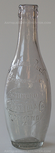 Indian Rock Ginger Ale, bowling pin Pepsi:Cola from Richmond, VA. --- AntiqueBottleHunter.com