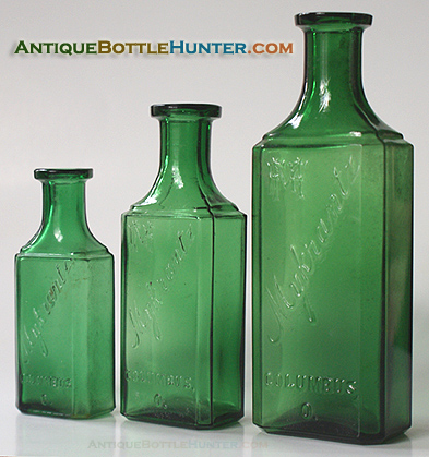 Three sizes of MYKRANTZ / COLUMBUS O. --- Antiquebottlehunter.com