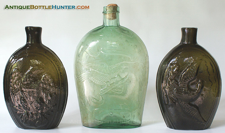 EXAMPLES OF EAGLE FLASKS IN OUR COLLECTION