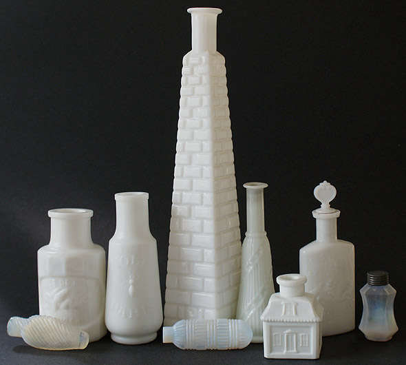 MILK GLASS and Opalescent favorites in our collection.