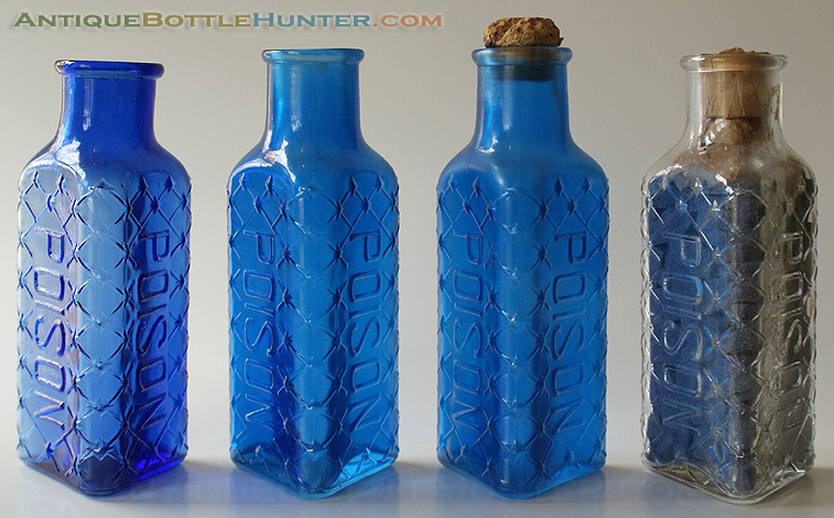 A set of four KT-2s. --- AntiqueBottleHunter.com